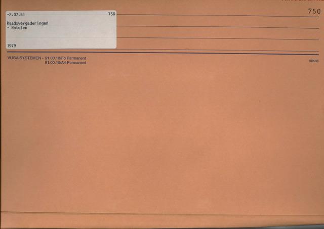 Fijnaart en Heijningen: notulen gemeenteraad, 1934-1995 1979
