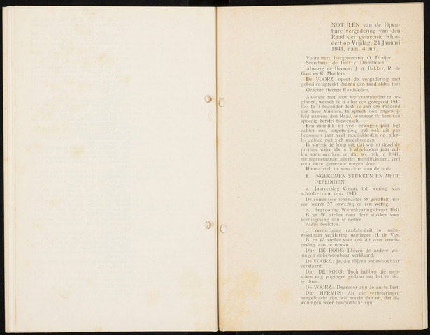 Klundert: Notulen gemeenteraad, mei 1933-1996 1941
