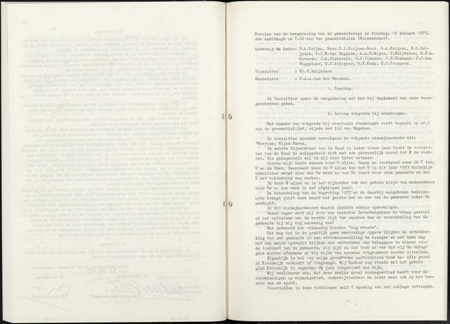 Zevenbergen: Notulen gemeenteraad, 1930-1996 1973-01-01