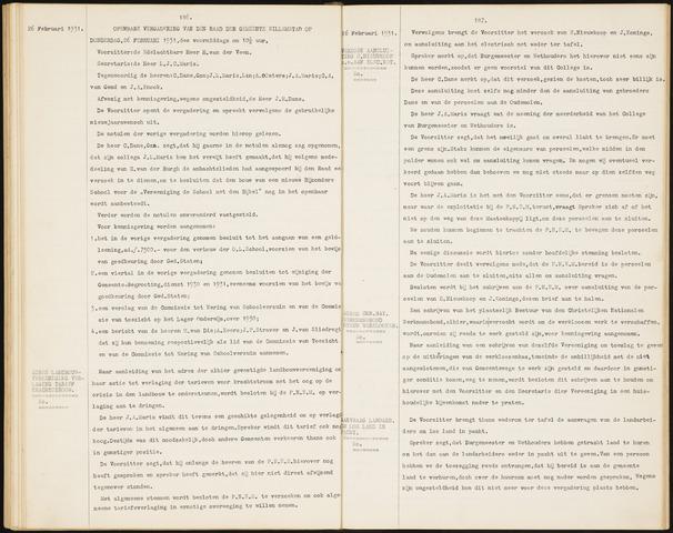 Willemstad: Notulen gemeenteraad, 1927-1995 1931-01-01
