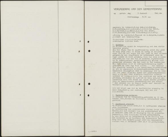Oudenbosch: Notulen gemeenteraad, 1939-1994 1946-01-01