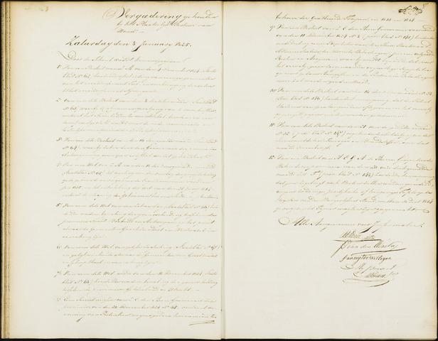 Wouw: Notulen gemeenteraad, 1813-1996 1825