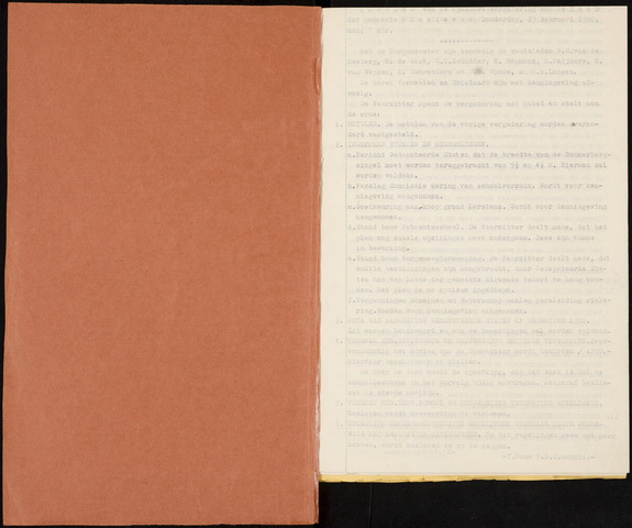 Klundert: Notulen gemeenteraad, mei 1933-1996 1950