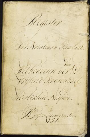Roosendaal: Registers van resoluties, 1671-1673, 1675, 1677-1795 1757