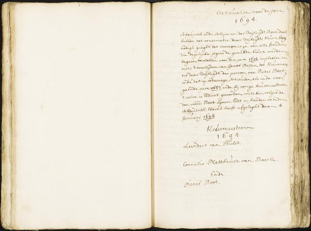 Roosendaal: Registers van resoluties, 1671-1673, 1675, 1677-1795 1694