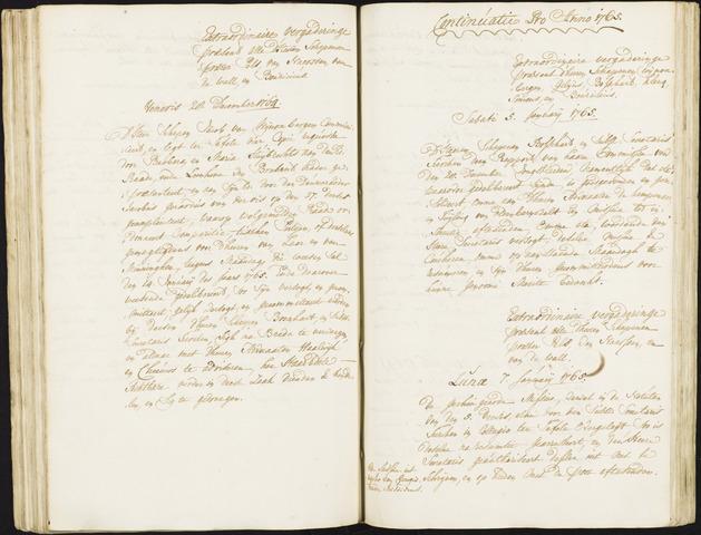 Roosendaal: Registers van resoluties, 1671-1673, 1675, 1677-1795 1765