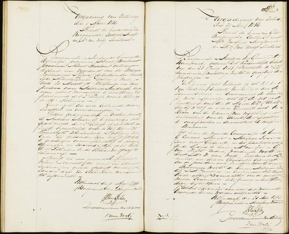Roosendaal: Notulen van burgemeester en assessoren, 1827-1851 1836
