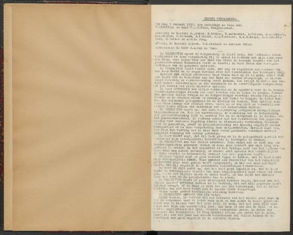 Bergen op Zoom: Notulen gemeenteraad, 1926-1996 1930-01-01