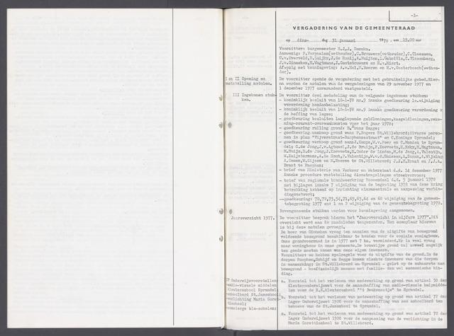 Rucphen: Notulen gemeenteraad, dec. 1949-1998 1978-01-01