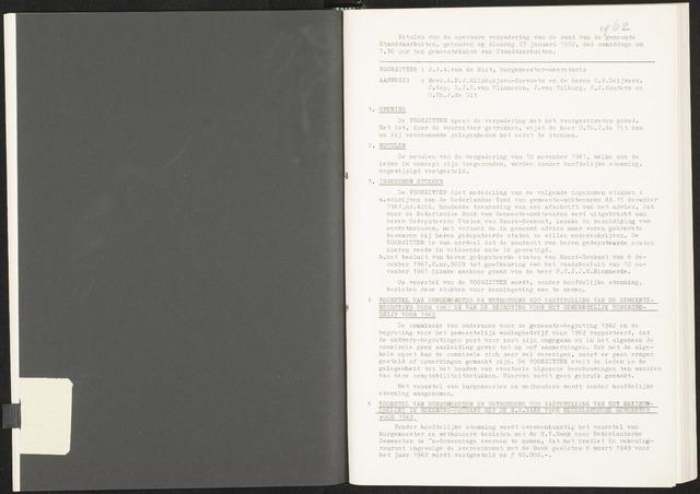 Standdaarbuiten: Notulen gemeenteraad, 1937-1996 1962-01-01