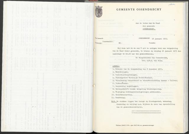 Ossendrecht: Notulen gemeenteraad, 1920-1996 1973