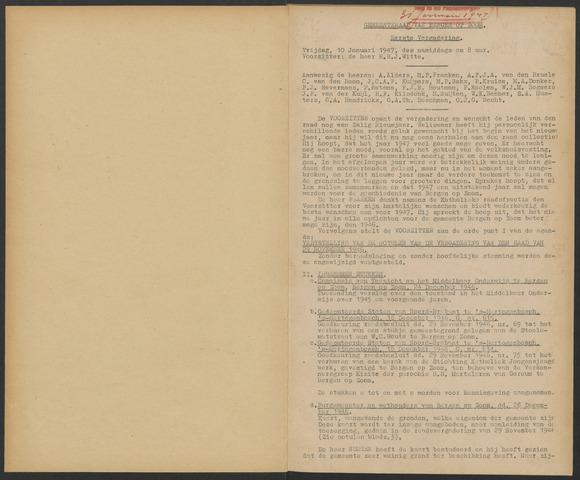Bergen op Zoom: Notulen gemeenteraad, 1926-1996 1947-01-01