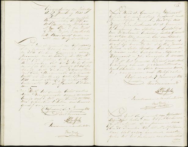 Roosendaal: Notulen, 1830-1851 1832