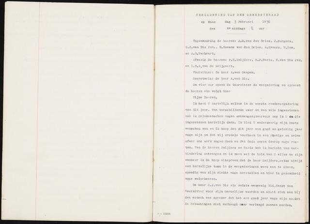 Fijnaart en Heijningen: notulen gemeenteraad, 1934-1995 1936