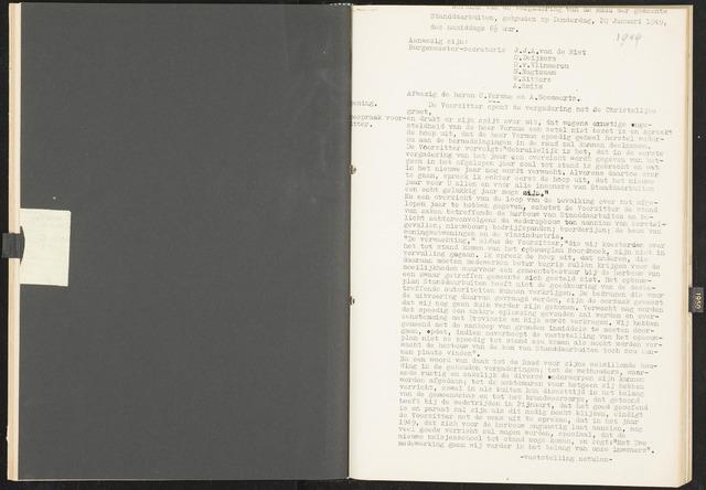 Standdaarbuiten: Notulen gemeenteraad, 1937-1996 1949-01-01