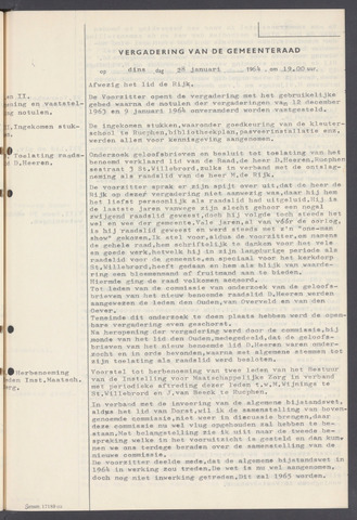 Rucphen: Notulen gemeenteraad, dec. 1949-1998 1964-01-01