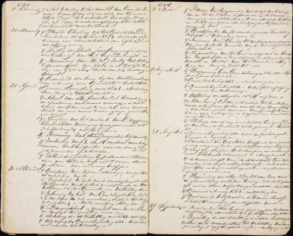 Roosendaal: Inhoudsopgaven notulen, 1849-1903 1864
