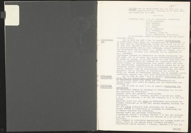 Standdaarbuiten: Notulen gemeenteraad, 1937-1996 1945-01-01