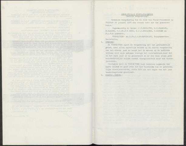 Nieuw-Vossemeer: Notulen gemeenteraad, 1957-1996 1970-01-01