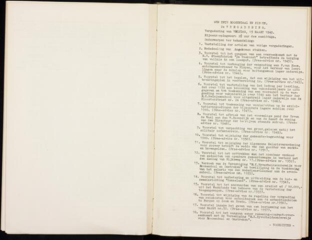 Roosendaal: Notulen gemeenteraad, 1916-1999 1940