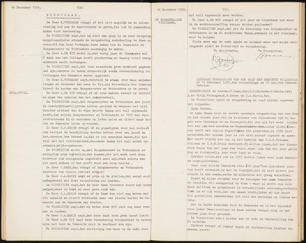 Willemstad: Notulen gemeenteraad, 1927-1995 1937-01-01