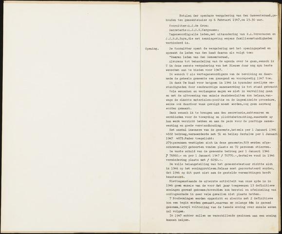 Hoeven: Notulen gemeenteraad, 1928-1996 1947-01-01