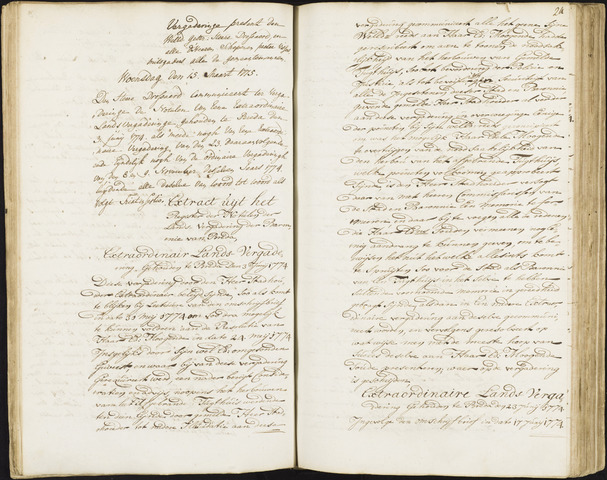 Roosendaal: Registers van resoluties, 1671-1673, 1675, 1677-1795 1775