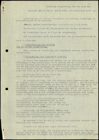 Putte: Notulen gemeenteraad, 1928-1996 1931-01-01