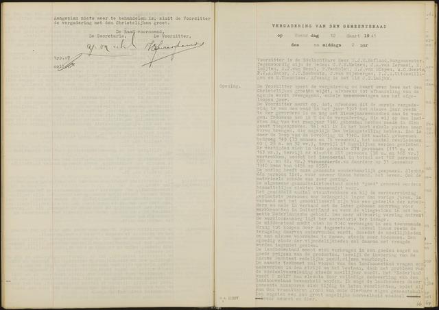 Oud en Nieuw Gastel: Notulen gemeenteraad, 1938-1980 1941-01-01