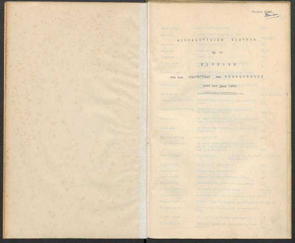 Woensdrecht: Notulen gemeenteraad, 1922-1996 1932-01-01