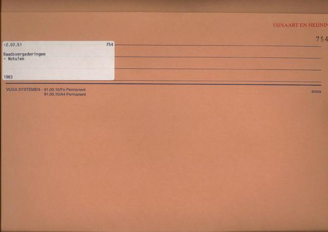 Fijnaart en Heijningen: notulen gemeenteraad, 1934-1995 1983
