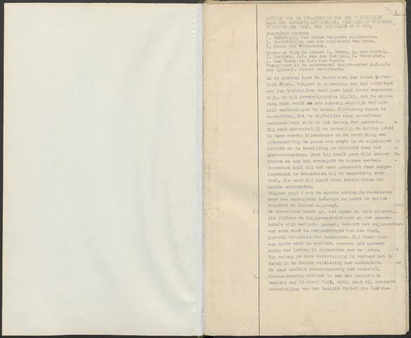 Huijbergen: Notulen gemeenteraad 1935-1996 1945-09-01