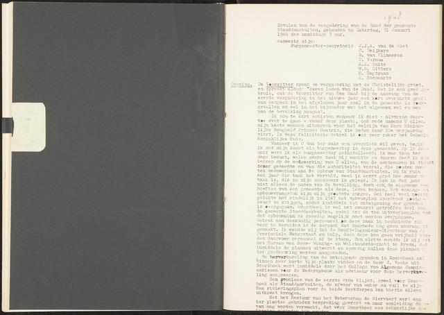 Standdaarbuiten: Notulen gemeenteraad, 1937-1996 1948-01-01