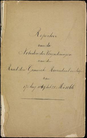 Roosendaal: Inhoudsopgaven notulen, 1849-1903 1849