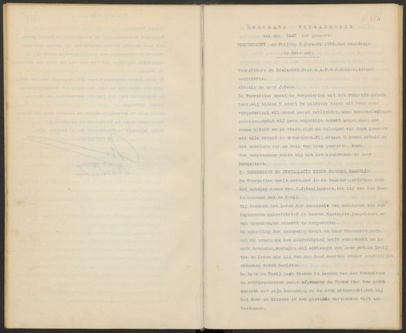 Woensdrecht: Notulen gemeenteraad, 1922-1996 1940-01-01