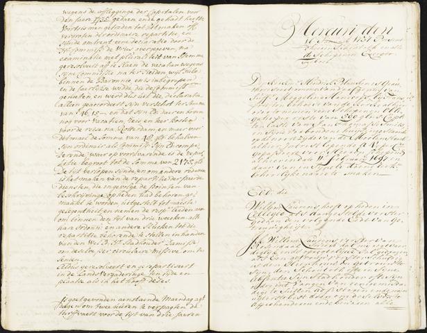 Roosendaal: Registers van resoluties, 1671-1673, 1675, 1677-1795 1737