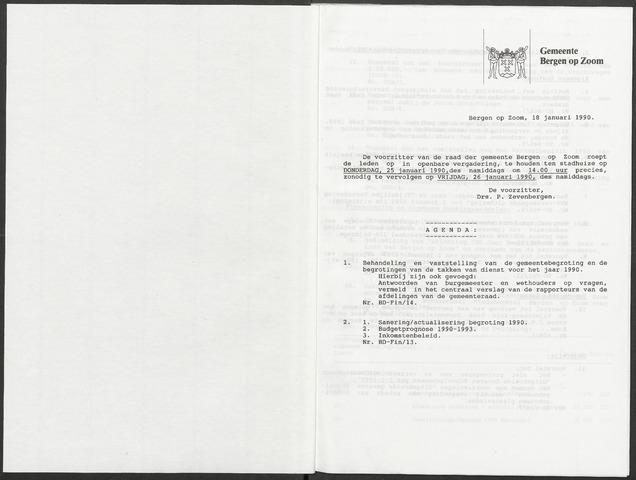 Bergen op Zoom: Notulen gemeenteraad, 1926-1996 1990-01-01