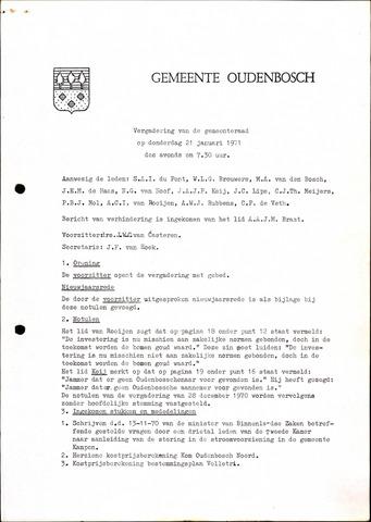 Oudenbosch: Notulen gemeenteraad, 1939-1994 1971-01-01