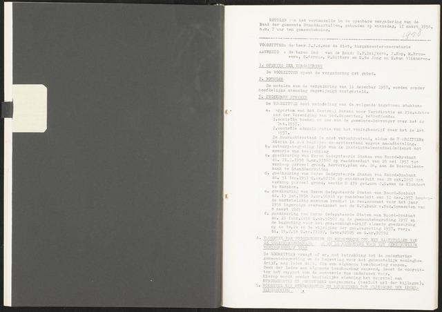Standdaarbuiten: Notulen gemeenteraad, 1937-1996 1958-01-01