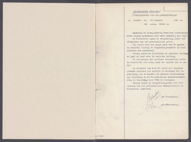 Rucphen: Notulen gemeenteraad, dec. 1949-1998 1950-01-01