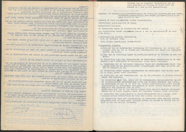 Ossendrecht: Notulen gemeenteraad, 1920-1996 1950