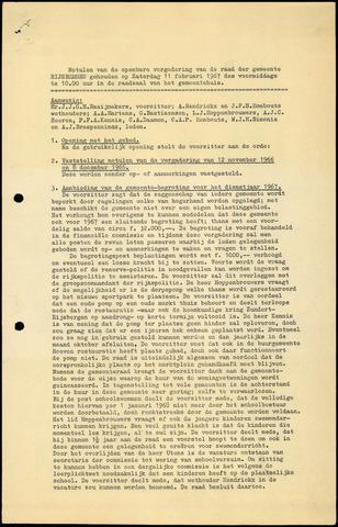 Rijsbergen: Notulen gemeenteraad, 1940-1996 1967