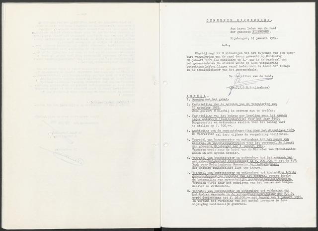 Rijsbergen: Notulen gemeenteraad, 1940-1996 1969