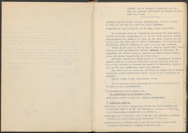Ossendrecht: Notulen gemeenteraad, 1920-1996 1941
