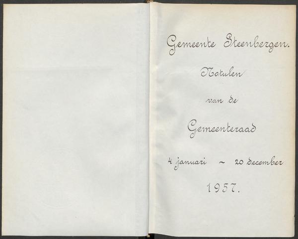 Steenbergen: Notulen gemeenteraad, 1920-1996 1957-01-01