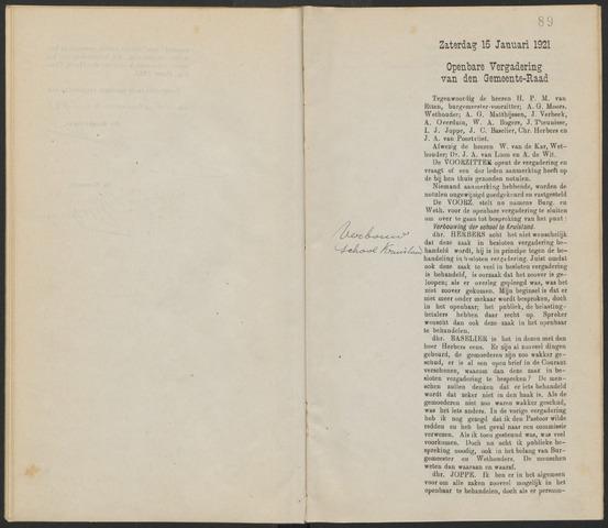 Steenbergen: Notulen gemeenteraad, 1920-1996 1921-01-01