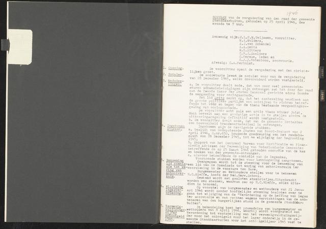 Standdaarbuiten: Notulen gemeenteraad, 1937-1996 1946-01-01