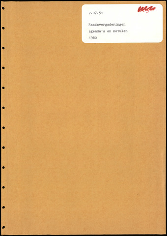Putte: Notulen gemeenteraad, 1928-1996 1980-01-01