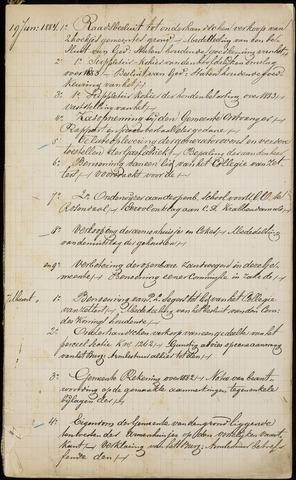 Roosendaal: Inhoudsopgaven notulen, 1849-1903 1884