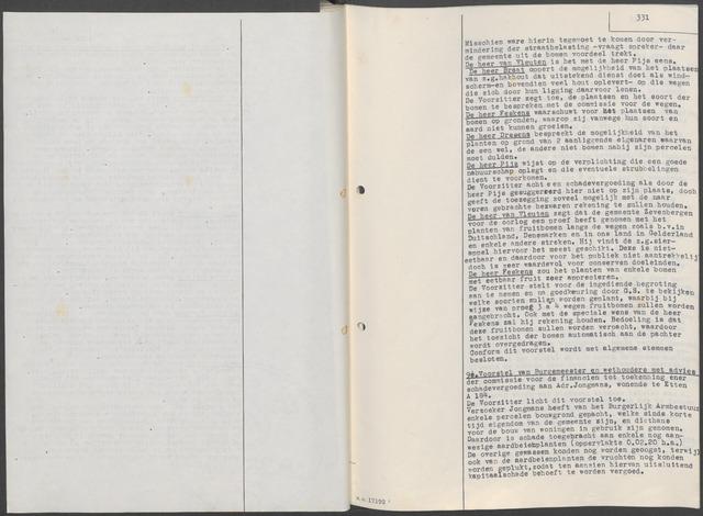 Etten-Leur: Notulen gemeenteraad, 1936-1979 1945-01-01